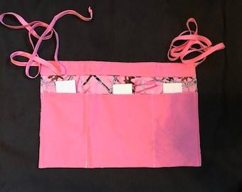 3 Pocket Pink Camo Waitress Apron