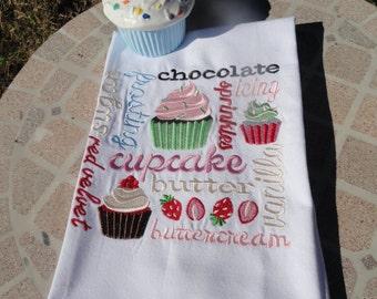 Kitchen Towel - Cupcake tea towel