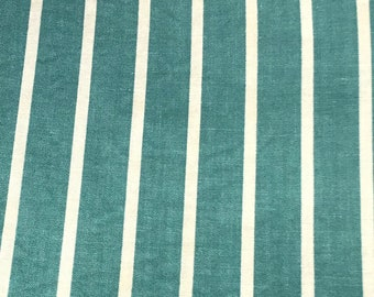 NEW Vintage Fabric, Stash Reduction, Pre 1950, 50's, quilt, quilting, sewing, jade green stripes
