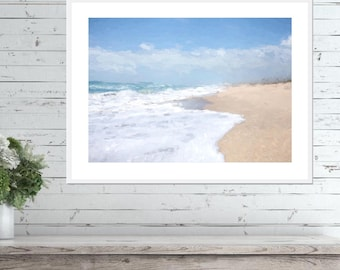 Beach Wall Art - Beach Painting, Printable Wall Art, Digital Download, Beach Art Print, Coastal Wall Art, Beach Wall Decor, Beach Art