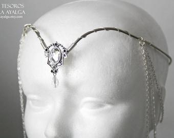 Elven tiara - elvish tiara - bridal- statement jewelry - statement jewelry - tiara crown- woodland crown - circlet - tiara crown