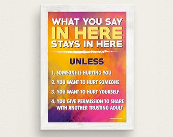 What You Say In Here Stays In Here Therapy Poster