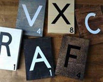 Large Scrabble Tile wall art / Big Scrabble Tiles / Scrabble