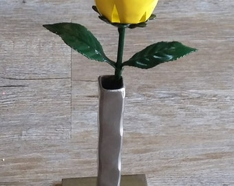 Yellow Steel Rose