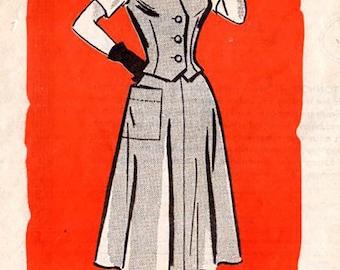 Anne Adams 4877 Misses' Vintage 1950s Vest, Skirt and Blouse Sewing Pattern