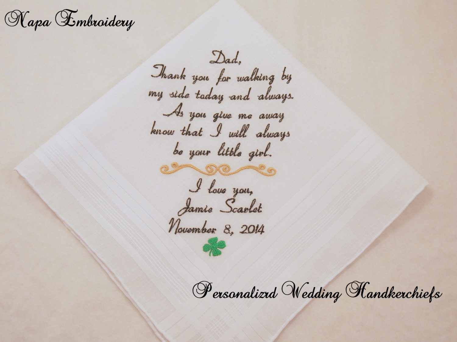 Wedding Gifts South Africa: WEDDING GIFTS For Father Of The BRIDE Personalized Embroidered