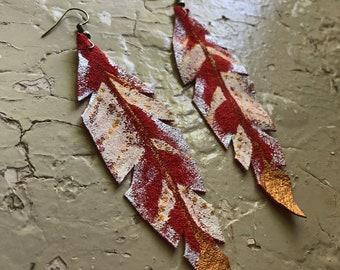 Painted Suede earrings