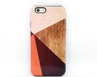 iPhone 8 case, iPhone 5s case, iPhone 6 Plus case, iPhone 6s, iPhone 7 case, iPhone 6 case, iphone case, iphone 6s plus - Color Block Wood