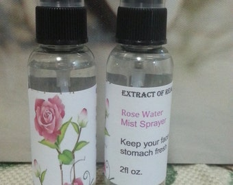 Rose Water Toner Rose Water Spray 100% Pure,Edible ,Extract Of Real Roses Mist Spray Bottle/ Face Mist  2oz