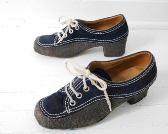 Rare 60s Unusual Vintage Wrapped Gummy Sole Oxford Loafer Shoes 9 //97