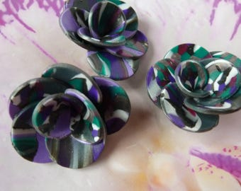 FLOWERS DECO PURPLE AND GREEN