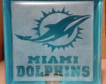 Miami Dolphins Glass block