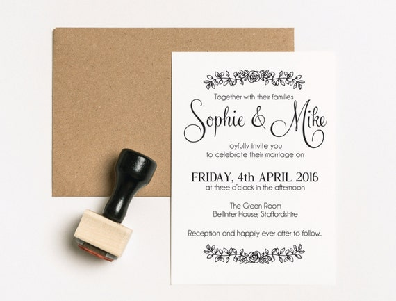 Wedding Invite Stamp: Wedding Invitation Suite Wedding Invitation Stamp Set Save