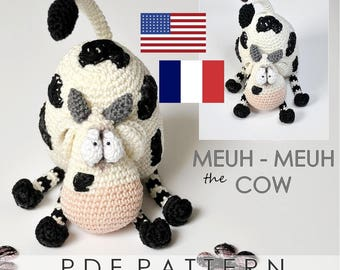 meuh-meuh the cow - PDF digital crochet pattern