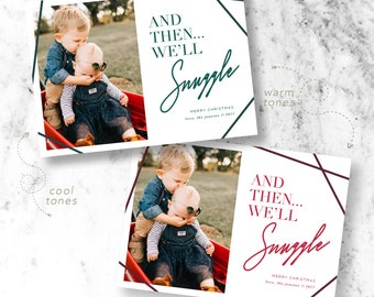 Snuggly Christmas Holiday Photo Cards