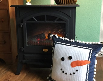 Snowman Cushion - Decorative