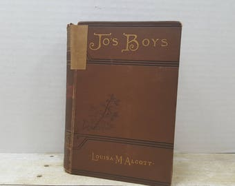 Jo's Boys, 1886, Louisa M Alcott, antique childrens book READ DESCRIPTIONS
