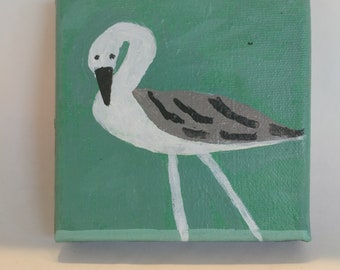 Beach Bird Painting
