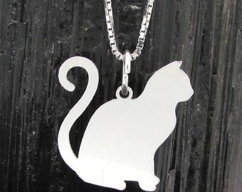 Cat Silhouette Pendant #10