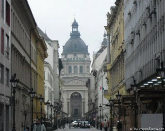 Street Budapest / Hungary - printable photo - can be used for cards, postcards, posters, frames