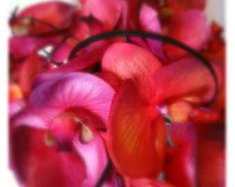 Artificial Flowers Bridal Hot Pink Orchid Wedding Bouquet
