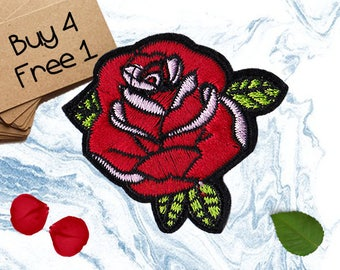 Mirror Flower Patches Rose Patches Iron On Patch Sew On Patch Patches For Backpacks