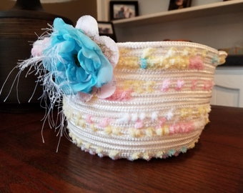 Pastel Coiled Rope Basket/Bowl