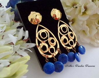 Blue gold jewelry Etsy