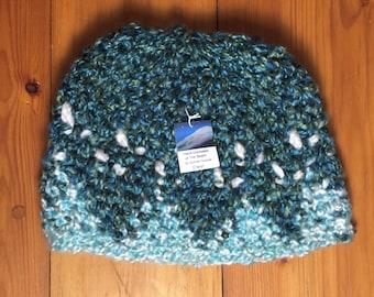 Hand crocheted beanie hat