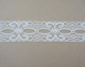 """Ivory Beading Lace Trim Ribbon 2 1/4""""  inch wide Sewing Project Gift Wrap Gift Basket Wedding Lace Bridal Home Decor Wreath Lace WL056"""