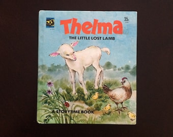 Thelma The Little Lost Lamb - Vintage Children's Storytime Book - Prestige Books 1976 Hardcover