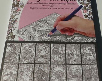 exotic jungle 12 patterns coloring book 24 pages 16 x 24 cm