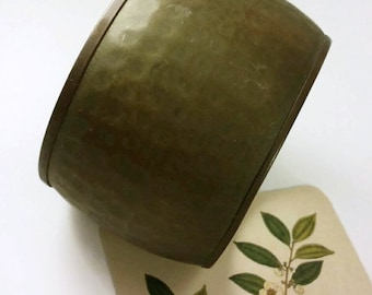 Hammered Brass Bangle. Vintage 1970s Bohemian Made in India
