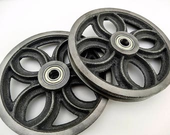 Barn Door Hardware Track Wheel  for Your DIY project Cast Iron