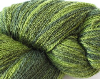 KAUNI Estonian Artistic Wool Yarn Green  8/2 Art Wool  Yarn for Knitting, Crochet , Gradient Wool