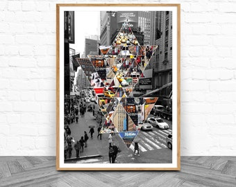 New York City, Instant Download, Gift For Her, Housewarming Gift, Black and White, New York Cityscape, Wall Art, New Home Gift