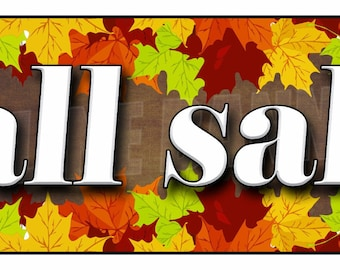 Fall Sale Banner Sign Seasonal Discounts Advertising 14oz Vinyl -- MULTIPLE SIZES