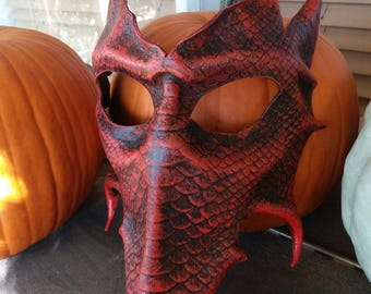 Leather Dragon Mask