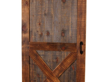 Barn Door, Natural Barn Wood Barn Door, X-Design Barn Door, Sliding Barn Door
