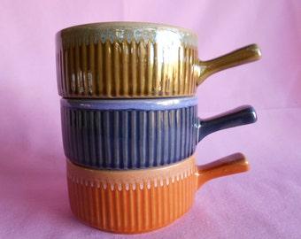 Drip Glaze Ramekins set of 3 made in Japan 1970's  #10291