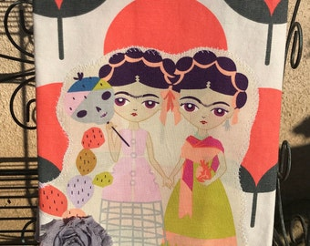 Esperanza Las Dos Hermanas Two Sisters Kitchen Towel
