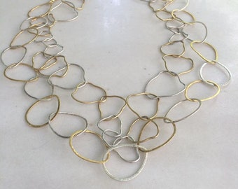 Silver 925 Necklace Minimal Necklace Gold Plated Necklace Elegant Necklace Chain Necklace