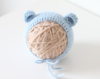 Newborn bear – Baby props – Newborn boy – Photo props – Baby boy bear – Newborn hat – Newborn props – Baby boy props - Bear hat - Ears hat