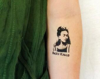 2 Frida Kahlo Temporary Tattoos- GeekTat