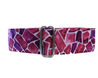 Giraffe Martingale Dog Collar, Pink Martingale Collar, Purple Martingale Collar, Pink Dog Collar, Giraffe Dog Collar, Whippet Collar