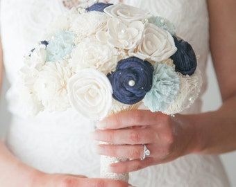 Wedding Bouquet, Sola Bouquet, Blue Bouquet, bride Bouquet, Alternative Bouquet, Bouquet, Sola flowers, Wood Bouquet