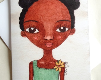 African American Greeting Card 'Rosie Girl'