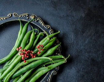 Still life with green beans. Photo Instant Download.  Still Life Photography.  Digital photo.
