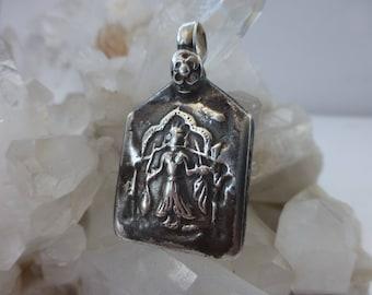 Silver vintage Rajasthani, Indian diety pendant. UK seller