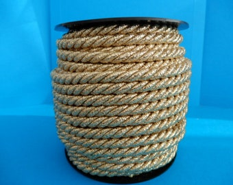 Braided color gold twisted rope cordon width mm.8 pack mt.20